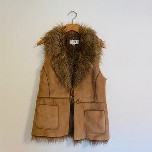 {Forever21} faux suede fur fashion vest